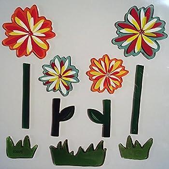 Amazon Com Design Ideas Gelgems Flower Themed Gel Window
