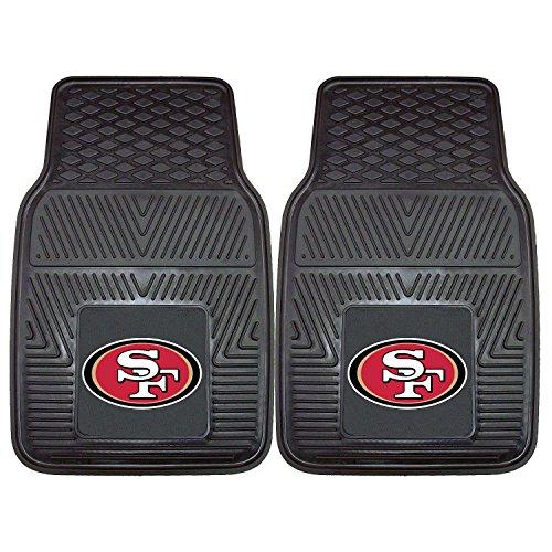 NFL San Francisco 49ers Heavy-Duty 2-Piece Vinyl Car Mats - 18