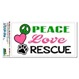 peace love cats decal - Peace Love Rescue - Adopt Animal Shelter Pet Dogs Cats Paw Print MAG-NEATO'S(TM) Automotive Car Refrigerator Locker Vinyl Magnet