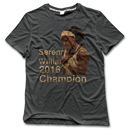 IWANNA Men's Wimbledon Serena Williams 2016 T Shirts DeepHeather