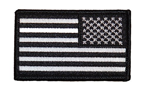 - Reverse American Flag Patch Swat (Black & White)