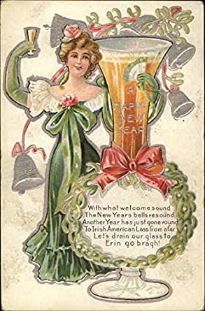 A Happy New Year Beautiful Ladies Original Vintage Postcard At Amazon S Entertainment Collectibles Store