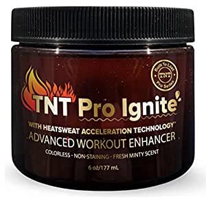 TNT Pro Ignite Stomach Fat Burner Body Slimming Cream With HEAT Sweat Technology - Thermogenic Weight Loss Workout Enhancer (6 oz Jar)