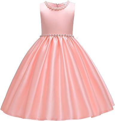 Amazon.com: Vestido de fiesta para niñas de 2 a 10 años., 7 ...