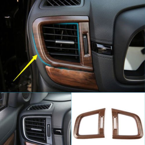 Flash2ning for Honda CRV CR-V 2017 2018 2019 Peach Wood Grain Side Air Vent Outlet Cover Trim 2PCS