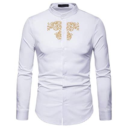 8426ca058 Image Unavailable. Image not available for. Color: Clearance 2018 Shirts  for Men, Jiayit Mens Hipster Casual Slim Fit Long Sleeve Button Down