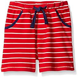 Mud Pie Baby Toddler Boys\' Shorts Pull on, Red Stripe, 4T-5Toddler