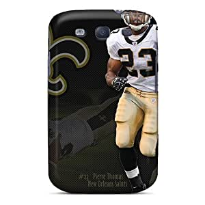 LauraAdamicska Samsung Galaxy S3 Shock Absorbent Hard Phone Case Unique Design Attractive New Orleans Saints Image [nwb11460zqFd]