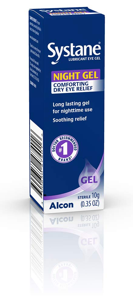 Systane Lubricant Eye Gel, Nighttime, 0.35-Ounces (package may vary)