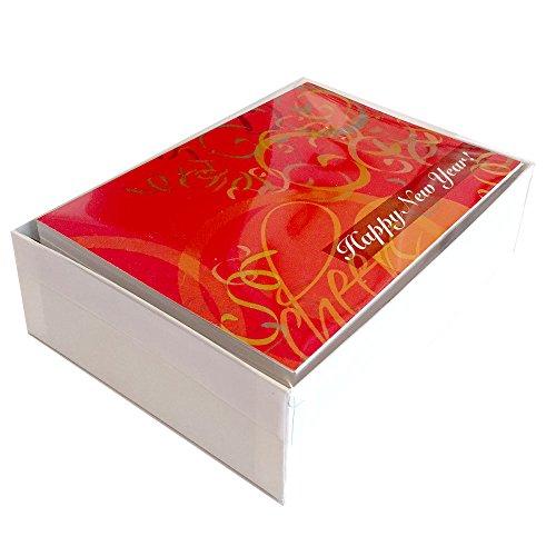 New Year Greeting Card N7011. A bright, celebratory design wishing