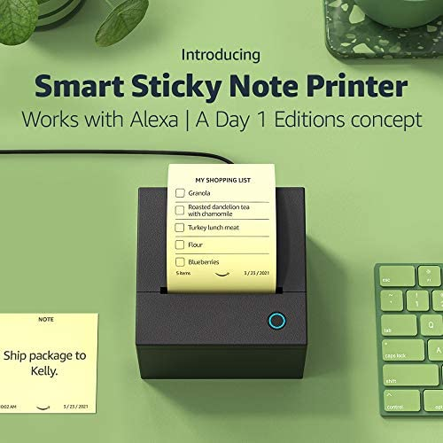 Smart Sticky Note Printer | Works with Alexa | A Day 1 Editions idea