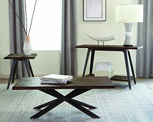 Coaster Fine Furniture 705818 Mesa de Centro, Estilo Rustico, Color Café