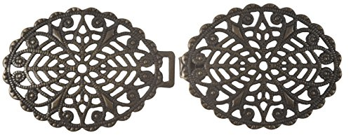 Filigree Oval Clasp - Antique Gold Finish ()
