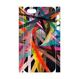 Colorful Stripes Design Unique Design 3D Cover Case for Iphone 5,5S,custom cover case ygtg603321