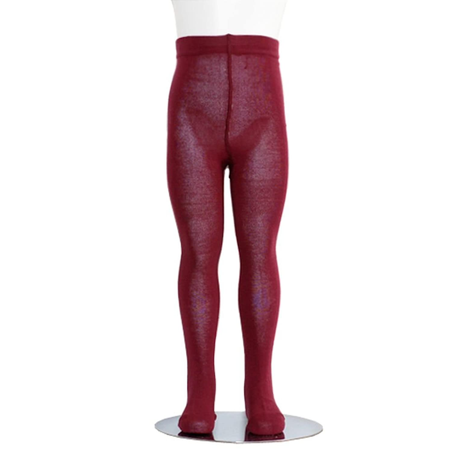 amazoncom burgundy piccolo heavyweight opaque toddler little girls tights 2t 16 kids winter tights red clothing