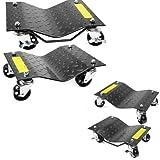 "XtremepowerUS 12""x 16"" Premium Skates Wheel Car Dolly, Repair Slide (2-Pair)"