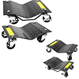 XtremepowerUS 12''x 16'' Premium Skates Wheel Car Dolly, Repair Slide (2-Pair)