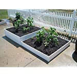 "Handy Bed 4 x 4 Stack-able, White, Vinyl, Raised Garden Bed 13 Actual Dimensions: Outer (47.25"" x 47.25"" x 6.00"") Inner (45.00"" x 45.00"" x 6.00"") Stack-able, Relocatable, Paint-able Simple design makes assembly easy"