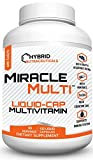 MiracleMulti Best Liquid Capsule Multivitamin for Men & Women | Vitamin Mineral Supplement with CoQ10 Superfood Enzyme Blend for Optimized Heart, Stamina, Energy, Softgel Capsule - 60 Servings