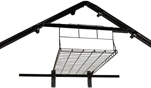 Suncast Loft Shelf-Ceiling Storage and Shelving Shed-H, Black, Holds 50lbs