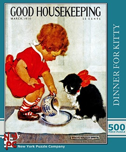 Dinner for Kitty - Good Housekeeping 500-Piece Puzzle