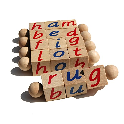 Montessori Phonetic Reading Blocks for the Beginning Reader