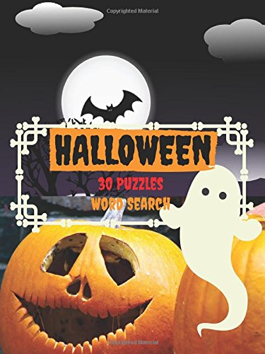 Halloween 30 Puzzles Word Search: Halloween themed word search puzzles (10 words per puzzle) Puzzles Game For Kids 4-8