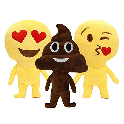 New Cute Emoji Poo Throw Pillows Cushion Stuffed Plush Doll Toys Home Sofa Decor By (Koko Cotton Pillow)