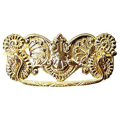 - Fancy Stamped Brass Victorian Drawer Pull Handle Antique Cabinet, Desk OR Any Vintage Furniture Reproduction Hardware | P-3 (1)