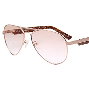 85e58b5ffa4 LianSan Bifocal Womens Mens Aviator Oversized Metal Reading Glasses Fashion  Designer Readers LMO010 gold