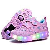 Nsasy Roller Shoes Girls Boys Wheel Shoes Kids