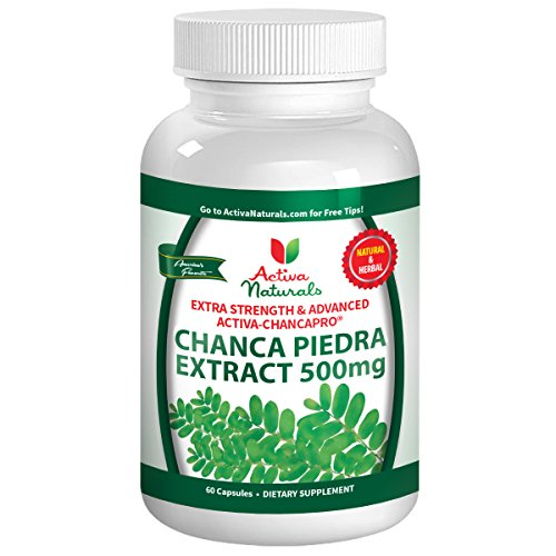 Activa Naturals Chanca Piedra 500mg with Pure, Herbal & Natural Phyllanthus Niruri Herb Extract Supplement for Kidney, Gallbladder & Bladder Health Support – Select 60 or 120 or 180 Capsules