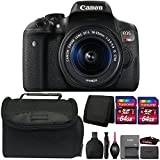 Canon EOS Rebel T6i 24.2MP DSLR Camera with 18-55mm IS STM Lens and Accessory Kit