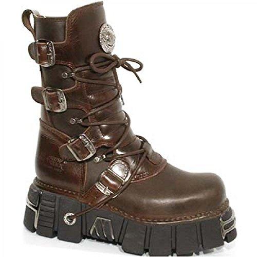 New Rock Boots M.373-c16 Gotico Hardrock Punk Unisex Stiefel Braun