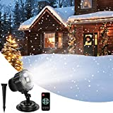 LightInTheBox Snowfall Projector LED Christmas Lights Waterproof Spot Lamps Projection Snowflake Lamp with Wireless Remote Control for Halloween Party Wedding Garden Decorations