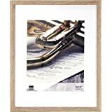 """Kiera Grace Linear Picture Frame, 11 by 14"""" Matted for 8 by 10"""", Driftwood Grey"""