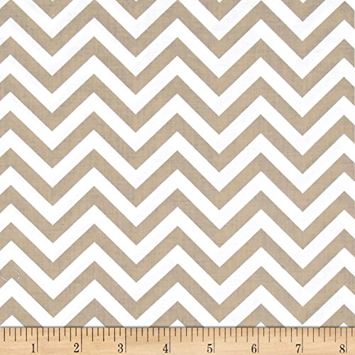 Clothworks Bro.ther Sis.ter Chevron Stripe Dark Taupe Fabric By The ()