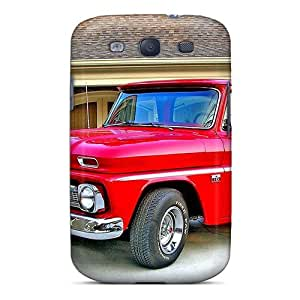Galaxy S3 Case Cover - Slim Fit Tpu Protector Shock Absorbent Case (66 Chevy C10)