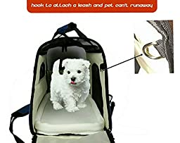 Mr. Peanut\'s Airline Approved Soft Sided Pet Carrier, Two-Tone Luxury Travel Tote with Fleece Bedding, New Design, Under Seat Compatability, Perfect for Cats and Small Dogs (Platinum Gray)