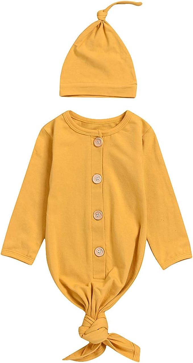 Borlai - Saco de dormir para bebé y niña, diseño de recién nacido, manga larga, con gorro Amarillo amarillo 67 cm: Amazon.es: Ropa y accesorios