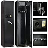 4Family 5 Rifle Electronic Gun Storage Lock Shot Steel Safe Cabinet Firearm