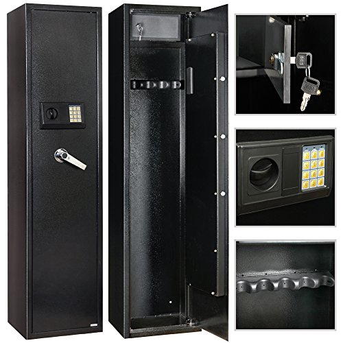 4Family 5 Rifle Electronic Gun Storage Lock Shot Steel Safe Cabinet Firearm by 4Family