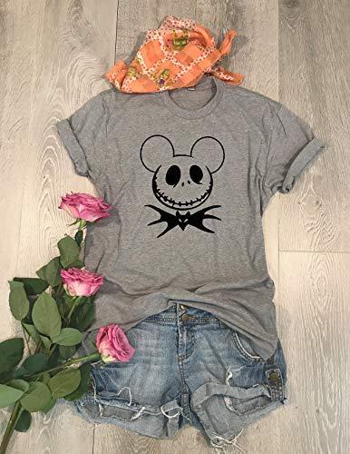Jack Mickey Graphic Shirt. Screen Printed With Eco-Ink. Halloween Mickey Shirt. Mickey Skull Bat. Halloween Fun Shirt. Halloween T-Shirt. Disney Trip Shirt. Unisex Fit. Crew-Neck Shirt.]()