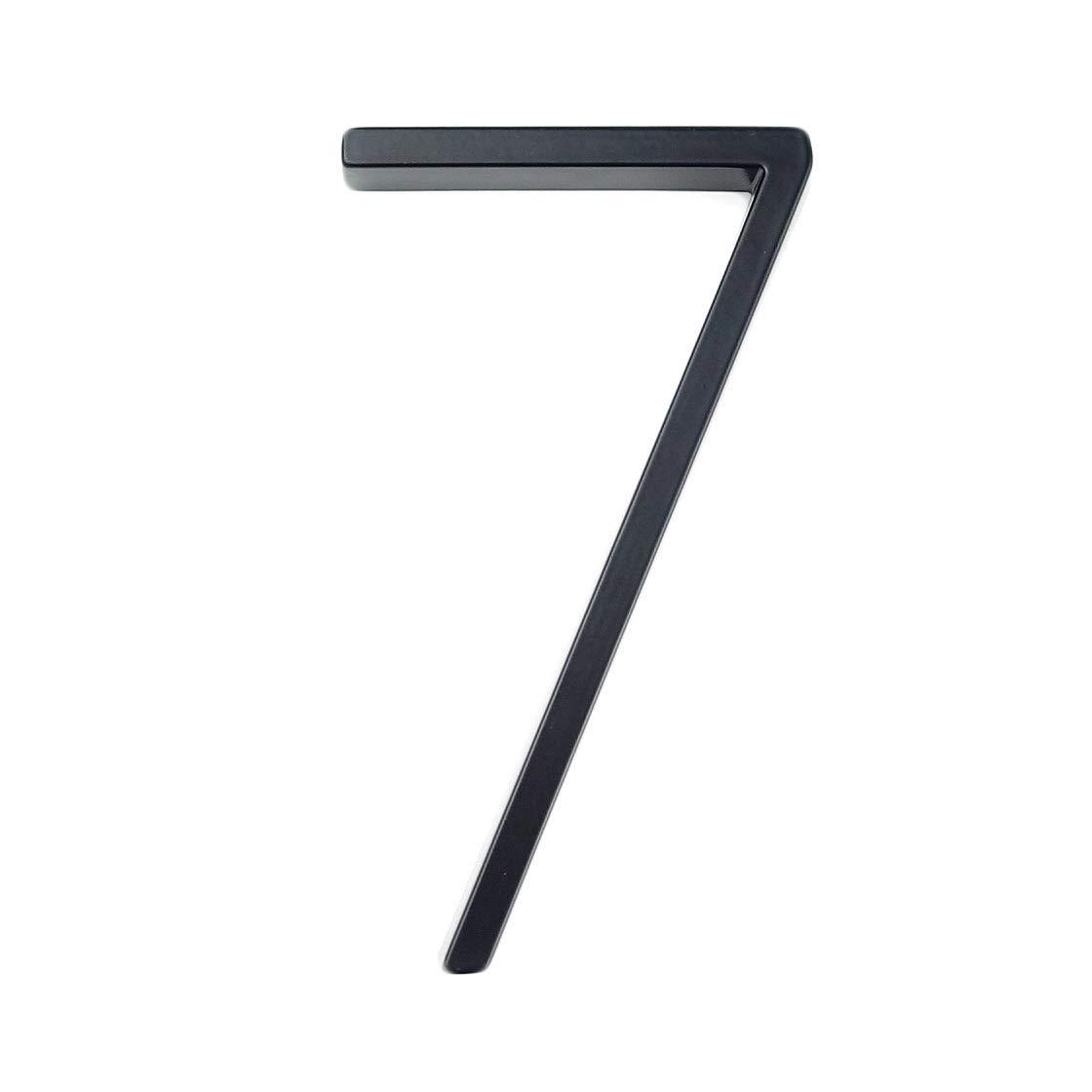 Color : 9 DYHM numero de maison 127mm Grand Num/éro de Maison Moderne H/ôtel Maison Num/éro de Porte Ext/érieur Adresse Plaque Num/éro en Alliage de Zinc for Maison Signe Adresse