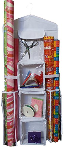 Happi Home Double-Sided Hanging Gift Wrap Organizer