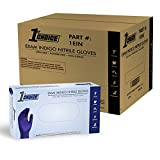 1st Choice Safety Indigo Nitrile Disposable Gloves, Case of 1000 X-Large - Exam/Medical, Latex Free