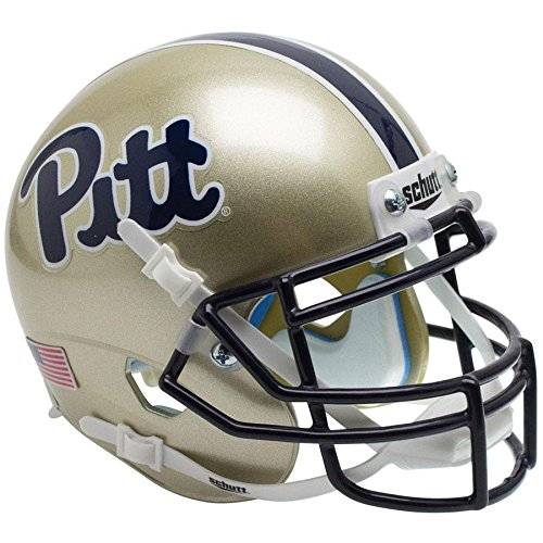 Schutt Pittsburgh Panthers Replica Helmet - Pittsburgh Panthers Script Officially Licensed Full Size XP Replica Football Helmet