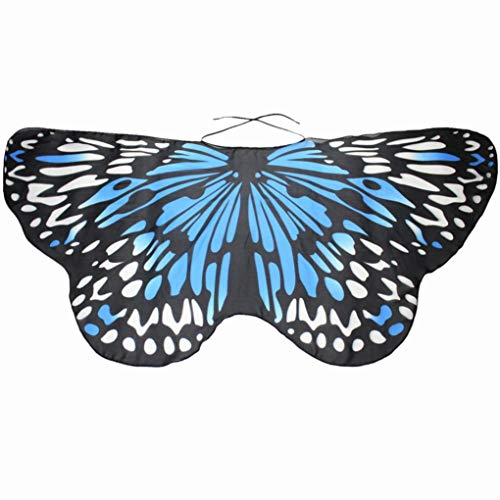 iDWZA Parent-Child Bohemian Butterfly Wing Shawl Pashmina Party Costume Accessory (11848cm,Sky Blue )