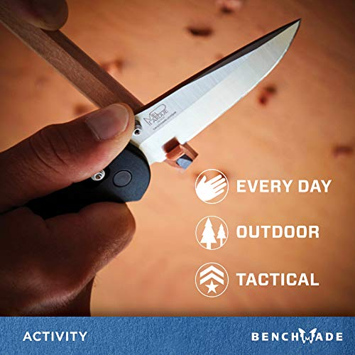 Benchmade - Griptilian 551 Knife with CPM-S30V Steel, Drop-Point Blade, Plain Edge, Satin Finish, Black Handle by Benchmade (Image #3)