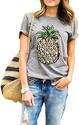 Haola Women's Summer Street Printed Tops Funny Juniors T Shirt Short Sleeve Tees
